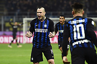 Radja Nainggolan of Internazionale celebrates after scoring the goal of 2-1 <br /> Milano 17-2-2019 Stadio Giuseppe Meazza in San Siro Football Serie A 2018/2019 FC Internazionale  - UC Sampdoria Foto Image Sport / Insidefoto