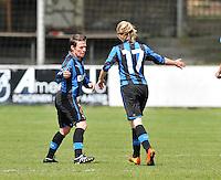 Club Brugge Dames - STVV Sint Truidense VV : Christine Saelens (links).foto DAVID CATRY / Nikonpro.be
