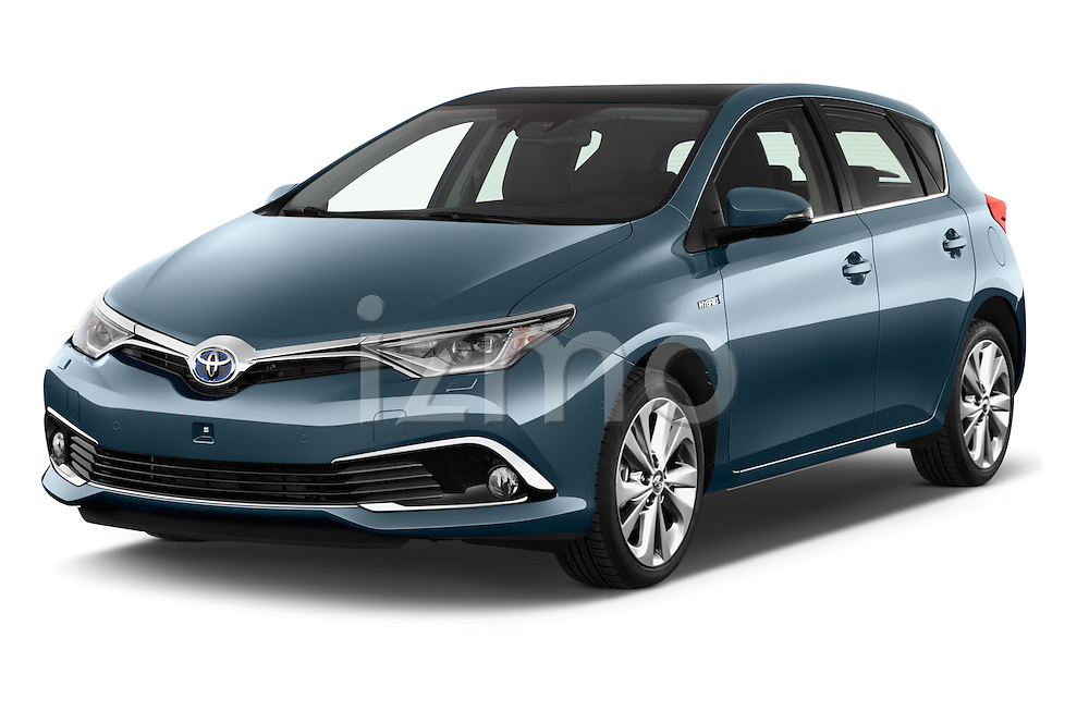2015 Toyota Auris Lounge 5 Door Hatchback Angular Front stock photos of front three quarter view