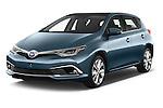 2015 Toyota Auris Lounge 5 Door Hatchback Angular Front stock photos of front three quarter view