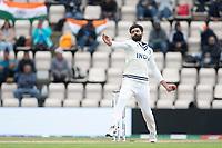Ravindra Jadeja, India bowls during India vs New Zealand, ICC World Test Championship Final Cricket at The Hampshire Bowl on 22nd June 2021