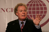 June 7 2004 Quebec City, Quebec, CANADA<br /> <br /> Jean Charest, Premier of Quebec Province speak at the 10th Conference of Montreal, June 7 2004<br /> <br /> Photo by Pierre Roussel - Images Distribution<br /> (c) 2004, Pierre Roussel