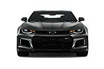 Car photography straight front view of a 2018 Chevrolet Camaro ZL1 2 Door Coupe Front View