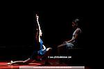 ANNONCIATION..Choregraphie : PRELJOCAJ Angelin..Mise en scene : PRELJOCAJ Angelin..Compagnie : BALLET PRELJOCAJ..Lumiere : CHATELET Jacques..Costumes : SANSON Nathalie..Avec :..CAUSSIN Virginie..RANDRIANANTENAINA Zaratiana..Lieu : Theatre de la Ville..Ville : Paris..Le : 25 02 2008..© Laurent PAILLIER Agence Enguerand....
