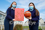 """TY students from St Joesph's Ballybunion, Abigail O'Neill and Millie Byrnes with their project """"Discrimination and Inequalities for women in sports"""", l to r: Abigail O'Neill and Millie Byrnes"""