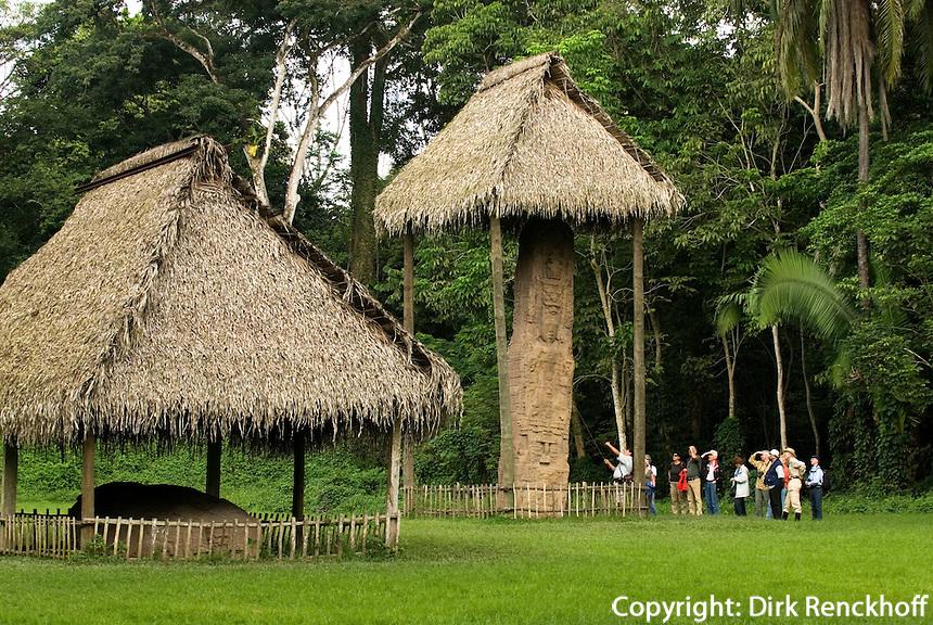 Guatemala, Maya-Stelen in der archäologischen Region Quirigua