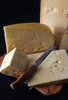 Vari tipi di formaggio. Various types of cheese. ..