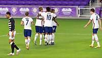 ORLANDO, FL - JANUARY 31: USMNT celebrate a goal by Jesús Ferreira #9 during a game between Trinidad and Tobago and USMNT at Exploria stadium on January 31, 2021 in Orlando, Florida.