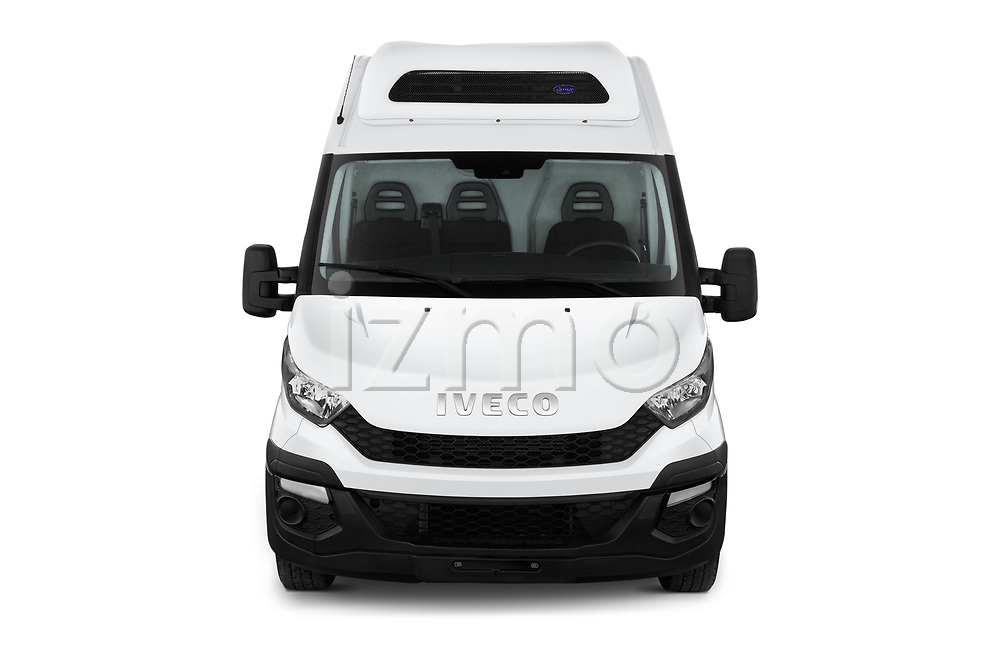 Car photography straight front view of a 2018 Iveco Daily 35S 4 Door Cargo Van