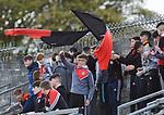Clondegad fans cheer on their team during their senior county final against Kilmurry Ibrickane at Cusack park. Photograph by John Kelly.