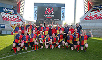 Saturday 6th April 2019 | 2019 Forester Cup Final<br /> <br /> Ballyclare captain Marc Fox and his team celebrate winning the Forester Cup at Kingspan Stadium, Ravenhill Park, Belfast, Northern Ireland. Photo by John Dickson / DICKSONDIGITAL