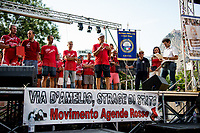 """We are here to fight for Truth and Justice"" - Salvatore Borsellino - Magistrate Paolo Borsellino's brother and founder of the Moviment Agende Rosse/Red Notebooks Movement, http://19luglio1992.com.<br />