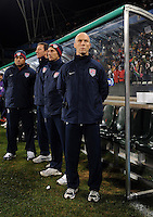 USA manager Bob Bradley. USA defeated Spain 2-0 during the semi-finals of the FIFA Confederations Cup at Free State Stadium in Manguang/Bloemfontein, South Africa on June 24, 2009..