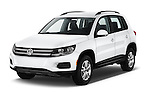 2017 Volkswagen Tiguan S-4Motion 5 Door SUV Angular Front stock photos of front three quarter view
