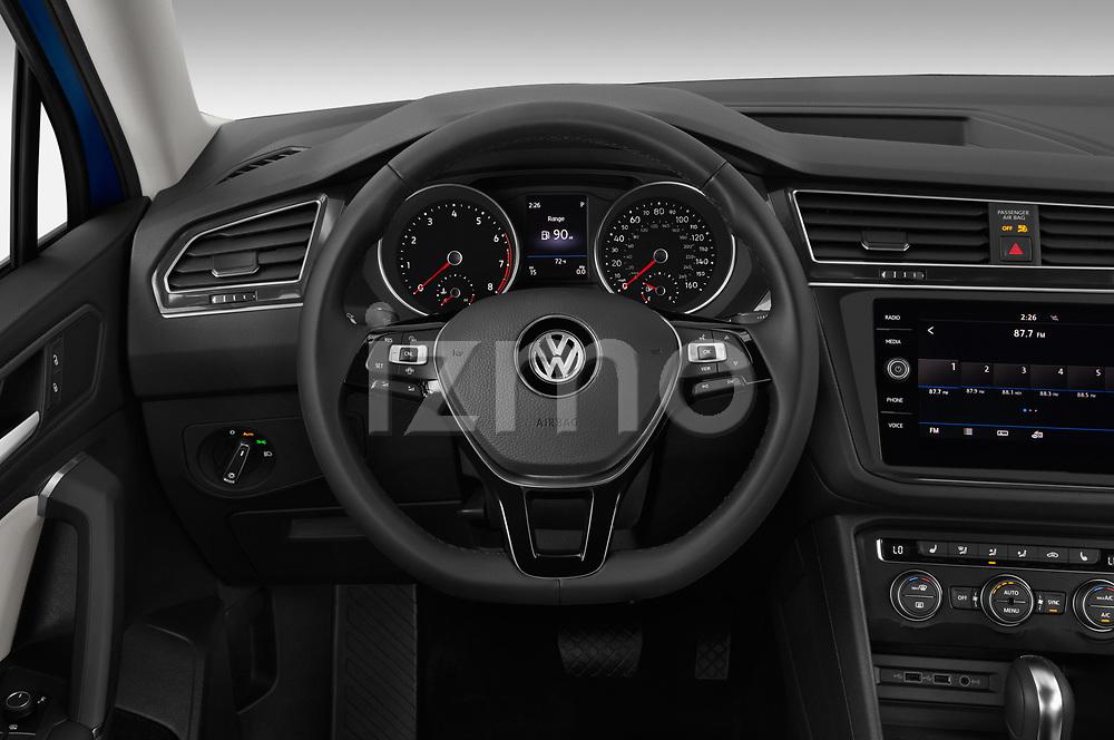 Car pictures of steering wheel view of a 2019 Volkswagen Tiguan SE 5 Door SUV