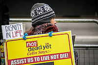 """16.01.2015 - Not Dead Yet UK: Protest Against """"Assisted Dying Bill"""""""