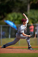 Central Michigan Chippewas starting pitcher Grant Wolfram (30) delivers a pitch during a game against the Boston College Eagles on March 8, 2016 at North Charlotte Regional Park in Port Charlotte, Florida.  Boston College defeated Central Michigan 9-3.  (Mike Janes/Four Seam Images)