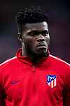 Thomas Teye Partey of Atletico de Madrid looks on prior to the UEFA Europa League 2017-18 Round of 16 (1st leg) match between Atletico de Madrid and FC Lokomotiv Moscow at Wanda Metropolitano  on March 08 2018 in Madrid, Spain. Photo by Diego Souto / Power Sport Images