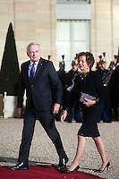 French Foreign Minister Jean-Marc Ayrault and his wife Brigitte arrive to attend a dinner in honour of Senegal's President Macky Sall at the Elysee Palace in Paris, France December 20, 2016. # FRANCOIS HOLLANDE RECOIT MACKY SALL POUR LE DINER A L'ELYSEE