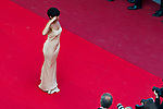 Foresti, Florence<br />  70eme Festival International du Film de Cannes. Montee de la ceremonie de cloture, vues du toit du Palais . 70th International Cannes Film Festival. Vew from rof top of closing red carpet