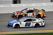 #88: Alex Bowman, Hendrick Motorsports, Chevrolet Camaro Nationwide and #18: Kyle Busch, Joe Gibbs Racing, Toyota Camry M&M's Chocolate Bar