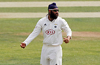 Amar Virdi of Surrey prepares to bowl during Essex CCC vs Surrey CCC, Bob Willis Trophy Cricket at The Cloudfm County Ground on 8th August 2020