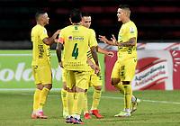 ITAGÜI - COLOMBIA, 12-10-2021: Itagüi Leones F.C. y Tigres F. C. durante partido de la fecha 12 por el Torneo BetPlay DIMAYOR II 2021 en el estadio Metropolitano de Itagüi en la ciudad de Itagüi. / Itagüi Leones F.C. and Tigres F. C. during a match of the 12th date for the BetPlay DIMAYOR II 2021 Tournament at the Metropolitano de Itagüi stadium in Itagüi city. / Photo: VizzorImage / Luis Benavides / Cont.