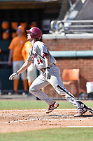 South Carolina Gamecocks shortstop Madison Stokes (14) swings at a pitch during a game against the Tennessee Volunteers at Lindsey Nelson Stadium on March 18, 2017 in Knoxville, Tennessee. The Gamecocks defeated Volunteers 6-5. (Tony Farlow/Four Seam Images)