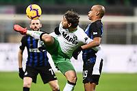 Manuel Locatelli-Joao Mario<br /> Milano 19-1-2019 Giuseppe Meazza stadium Football Serie A 2018/2019 Inter - Sassuolo <br /> Foto Image Sport / Insidefoto