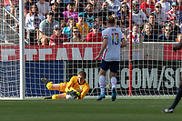SANDY, UT - JUNE 10: Ethan Horvath #12 of the United States makes the save during a game between Costa Rica and USMNT at Rio Tinto Stadium on June 10, 2021 in Sandy, Utah.