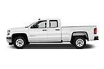 Car Driver side profile view of a 2016 GMC Sierra 1500 2WD Double Cab Standard Box SLE 4 Door Pick-up Side View