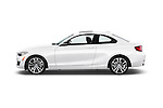 Car Driver side profile view of a 2017 BMW 2-Series 230i 2 Door Coupe Side View