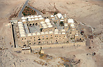 An aerial view of Nabi Musa in the Judean Desert