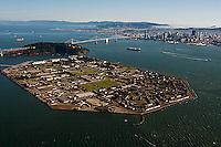 aerial photograph Treasure Island toward downtown San Francisco