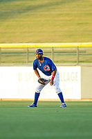 AZL Cubs right fielder Jonathan Sierra (22) on defense during a game against the AZL Brewers on August 6, 2017 at Sloan Park in Mesa, Arizona. AZL Cubs defeated the AZL Brewers 8-7. (Zachary Lucy/Four Seam Images)