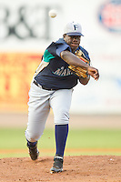 Starting pitcher George Mieses #70 of the Pulaski Mariners in action against the Bristol White Sox at Boyce Cox Field August 28, 2010, in Bristol, Tennessee.  Photo by Brian Westerholt / Four Seam Images