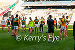 Players after the Senior football All Ireland Semi-Final between Kerry and Tyrone at Croke park on Saturday.