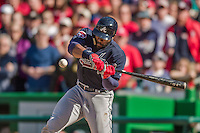 6 April 2014: Atlanta Braves right fielder Jason Heyward at bat against the Washington Nationals at Nationals Park in Washington, DC. The Nationals defeated the Braves 2-1 to salvage the last game of their 3-game series. Mandatory Credit: Ed Wolfstein Photo *** RAW (NEF) Image File Available ***