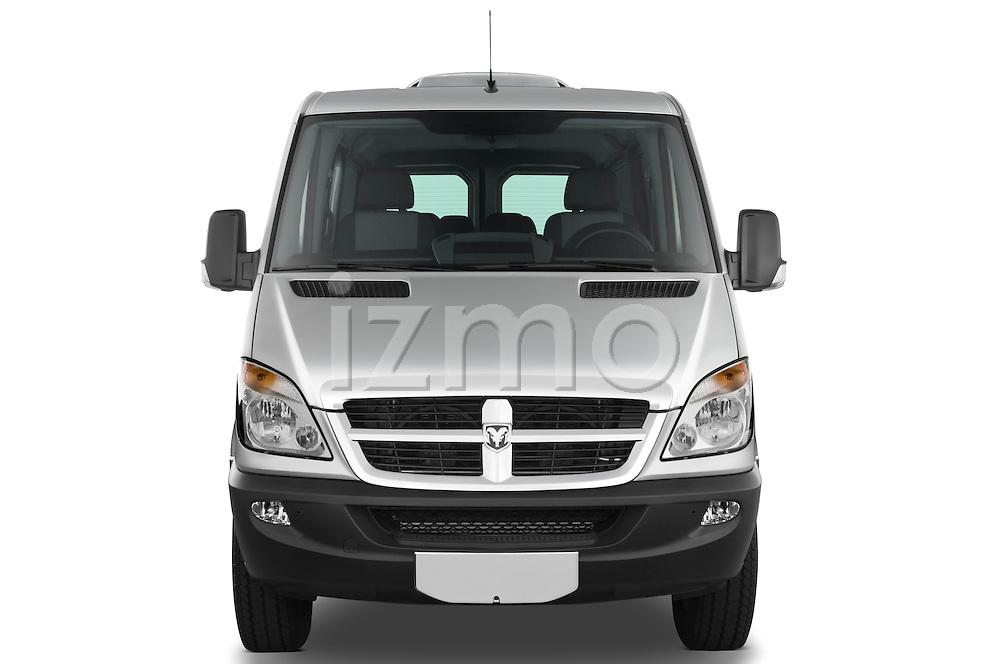 Straight front view of a 2008 Dodge Sprinter Passenger Van