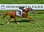 July 27, 2014: Starstruck (2), ridden by Kerwin Clark, pulls away from the field to win the Winstar matchmaker Stakes on Haskell Invitational Day at Monmouth Park in Oceanport, New Jersey Scott Serio/ESW/CSM