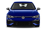 Car photography straight front view of a 2021 Volkswagen Golf R 5 Door Hatchback Front View
