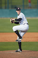 Kannapolis Intimidators relief pitcher Jake Elliott (25) in action against the Lakewood BlueClaws at Kannapolis Intimidators Stadium on April 8, 2018 in Kannapolis, North Carolina.  The Intimidators defeated the BlueClaws 4-3 in game two of a double-header.  (Brian Westerholt/Four Seam Images)