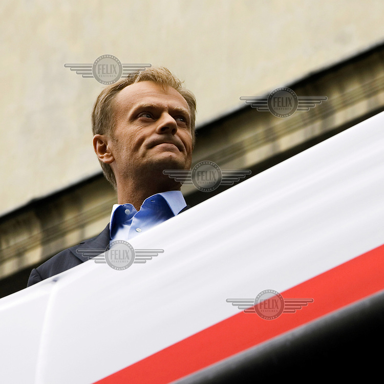 Donald Tusk, leader of the Civic Platform (PO) party. Tusk is expected to become Prime Minister after his party won parliamentary elections in October 2007.