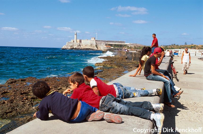Cuba, Castillo de los tres Reyes del Morro + Malecon in Habana