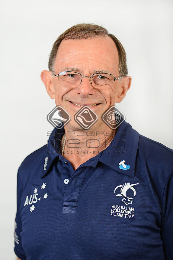 Geoff Thompson / Team Official <br /> Australian Paralympic Committee<br /> 2014 Sochi Paralympic Games<br /> (Games Processing)<br /> Melbourne VIC April 2013<br /> © Sport the library / Jeff Crow