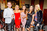 Dylan O'Connor, Kelly Sheahan, Nicole Carney, Sarah Sestini and Megan Collins enjoying the Manor West and Ashe Hotel party in the Grand Hotel on Sunday.