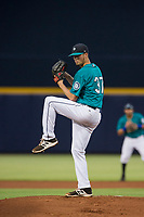 AZL Mariners starting pitcher Clay Chandler (37) delivers a pitch to the plate against the AZL Royals on July 29, 2017 at Peoria Stadium in Peoria, Arizona. AZL Royals defeated the AZL Mariners 11-4. (Zachary Lucy/Four Seam Images)