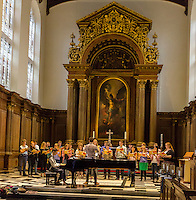 UK, England, Cambridge.  Choir Practice, St. John's College.