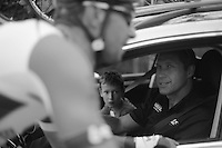 Heistse Pijl 2013<br /> <br /> DS Marc Wauters (BEL) happy with Kenny Dehaes' performance