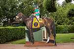 ARCADIA, CA  SEPTEMBER 27: 10 years ago, Zenyatta became the first mare to win the Breeders' Cup Classic. Fittingly, there's a photo op for fans .(Photo by Casey Phillips/Eclipse Sportswire/CSM